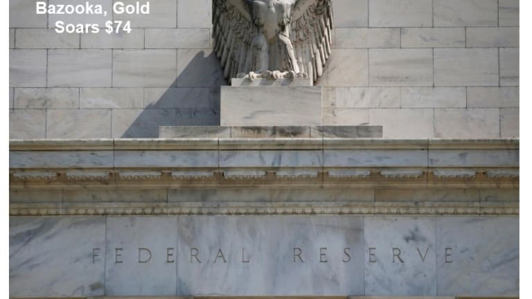 Fed Fires Bazooka of New Unlimited Market Interventions, Gold Soars