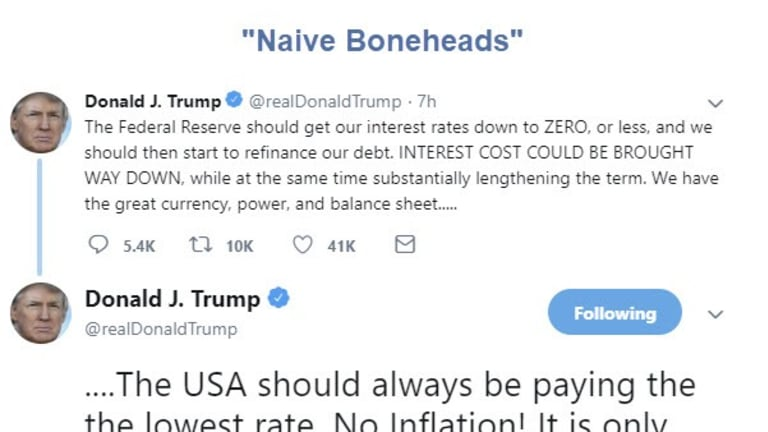 "Trump Calls Jerome Powell and the Fed ""Naive Boneheads"""