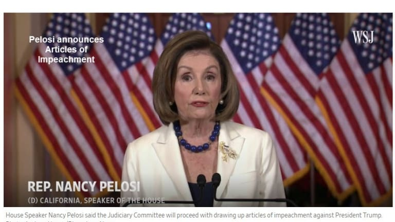 """Democrats Will Draw Up Articles of Impeachment Against """"King"""" Trump"""