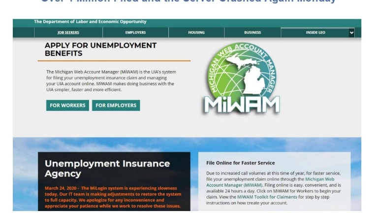 Over 25% of Michigan Workforce Filed For Unemployment