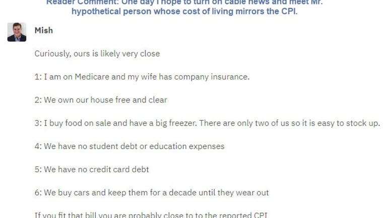 How Closely Do You Match the Purported CPI?