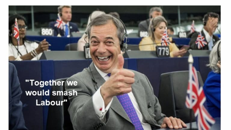 """Nigel Farage Offers Boris Johnson a Chance to Work Together to """"Smash Labour"""""""