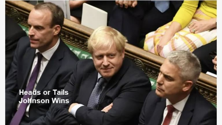 Brexit Coin Toss: Heads Johnson Wins, Tails Johnson Wins