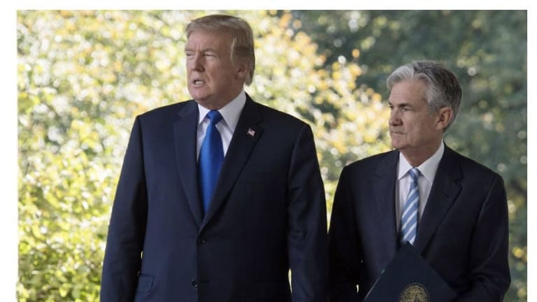 """Trump Cites Powell's """"Lack of Vision"""" Seeks 100 Basis Point Rate Cut and QE"""