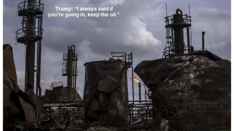"""Trump Says """"If You're Going In, Keep the Oil"""""""