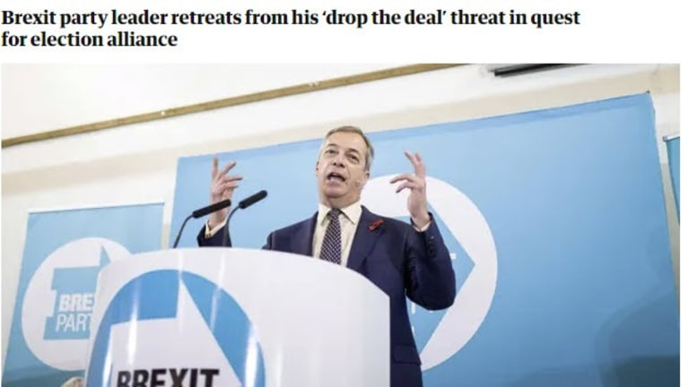 Johnson and Farage In Secret Deal? Who Forced Whom?