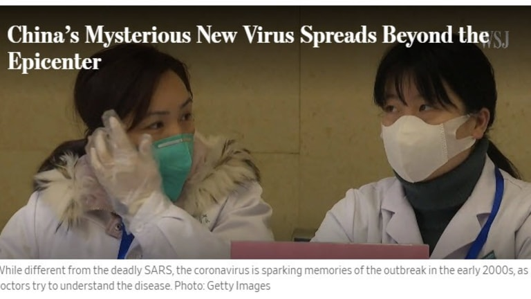 China Quarantines a City of 11 Million Over Deadly New Virus