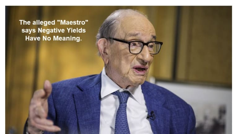 """""""Zero Has No Meaning"""" Says Greenspan: I Disagree, So Does Gold"""