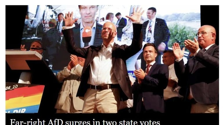 Far-Right AfD Surges in Two East German State Elections Thanks to Young Voters
