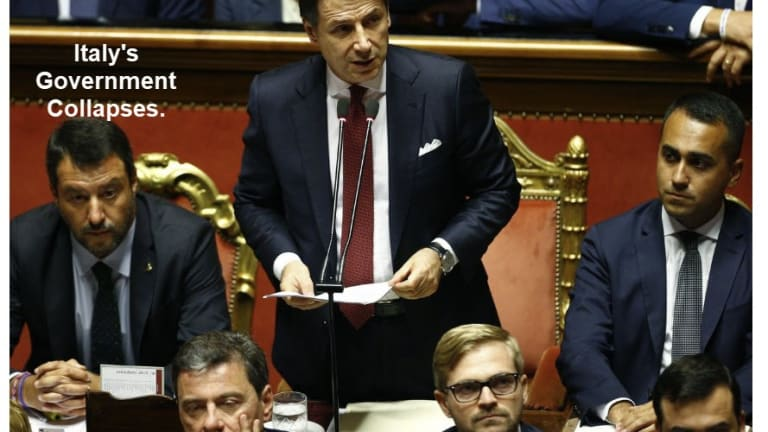 Italy's Gov't Collapses, Prime Minister Resigns: What's it Mean? What's Next?