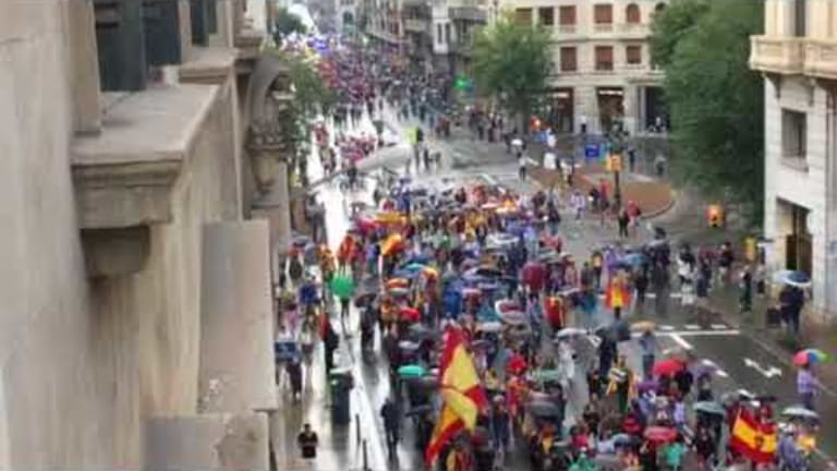 Eve of the Vote: Mish Reader on Vacation Sends Video of Barcelona Counter Protest