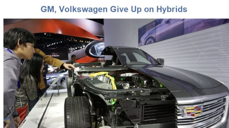 Death of the Hybrid Vehicle: GM and Volkswagen Say Goodbye