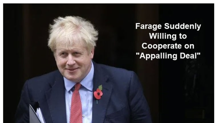 Farage-Tory Alliance Emerges: Huge Boost to Johnson