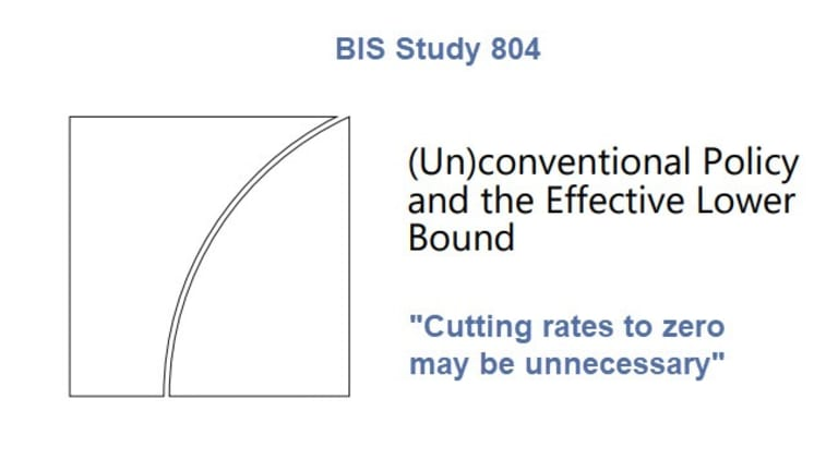 BIS Study Concludes Cutting Interest Rates to Zero May Not Be Necessary