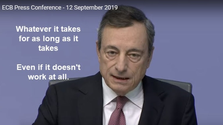 """ECB's Counterproductive QE: Whatever It Takes Morphs Into """"As Long As It Takes"""""""