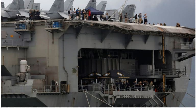 Nightmare at Sea: Aircraft Carrier Needs Help as Social Distancing Impossible