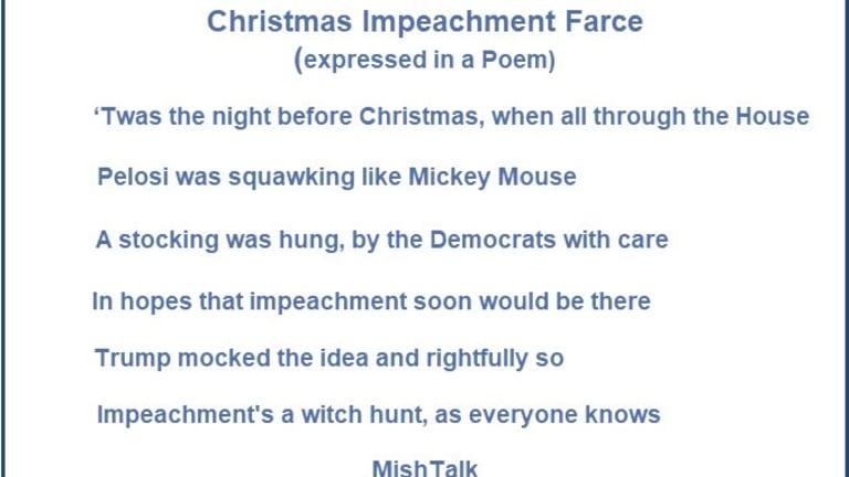 Christmas Impeachment Stocking: There's Nothing In It