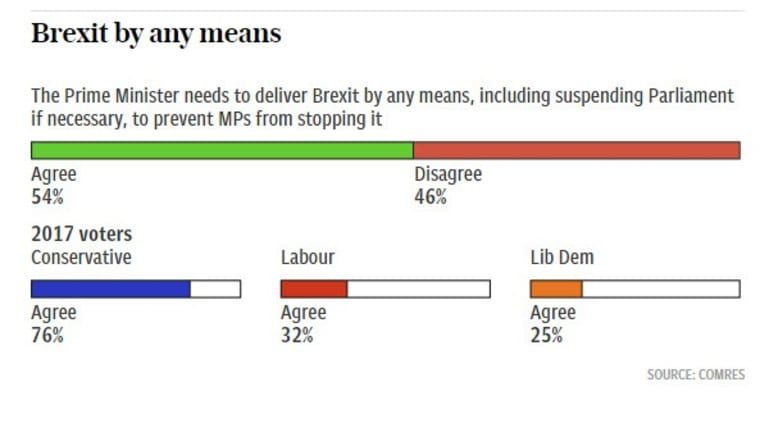 Hello Remainers: 54% Say the Prime Minister Should Deliver Brexit by Any Means