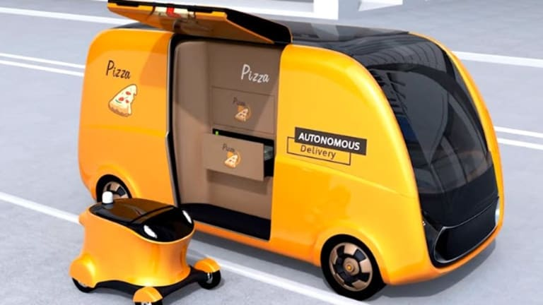 Self-Driving Pizza Delivery Now in California