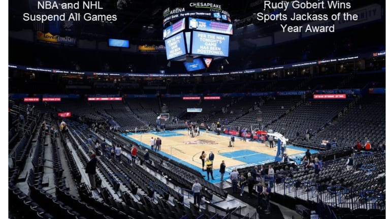 NBA Suspends All Games, Sports Jackass of the Year Awarded