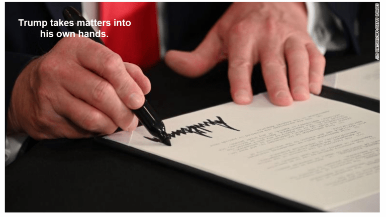 Trump Signs 4 Executive Orders, One Requires States Pay 25% of the Cost