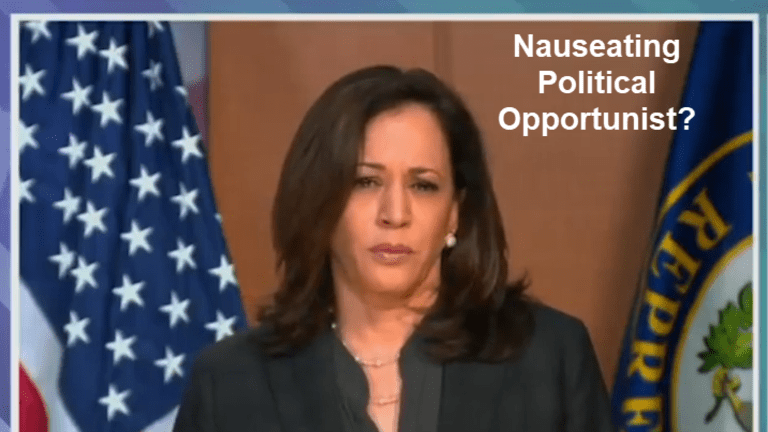 Is Kamala Harris a Nauseating Political Opportunist?
