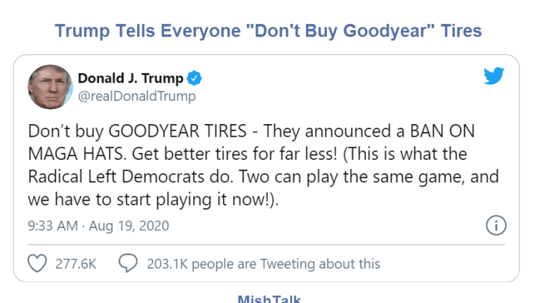 Trump's Boycott Goodyear Tweet Blows Up In His Face