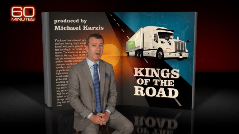 60 Minutes: Self-Driving Trucks Will Soon Be Kings of the Road