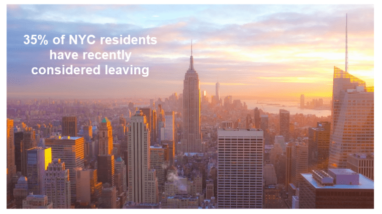 More Than One Third of All NYC Residents Consider Leaving