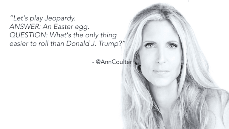 In a Fiery Tweetstorm, Ann Coulter Blasts Trump Over Taxes