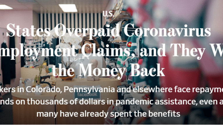 States Overpaid Covid Claims, Now They Want the Money Back