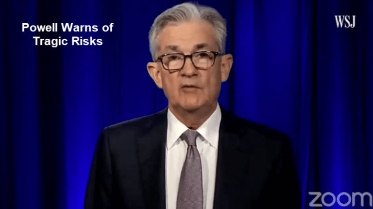 """Powell Begs More Stimulus, Warns of """"Tragic Risks"""" of Too Little"""