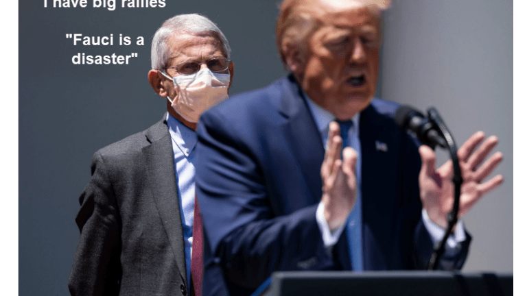 """Trump Attacks Dr. Fauci as a """"Disaster"""" and an """"Idiot"""""""