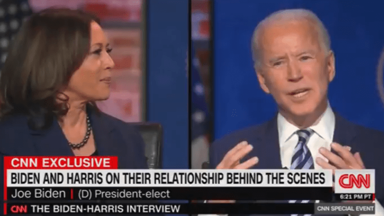 Biden Says He Would Resign if a Moral Dispute With Harris Arose