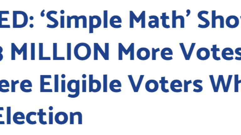 """""""Simple Math"""" Election Lies By the Gateway Pundit"""