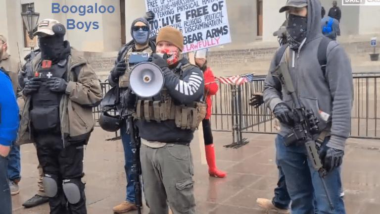 The 'Boogaloo Boys' Make Armed Protest at Ohio Statehouse
