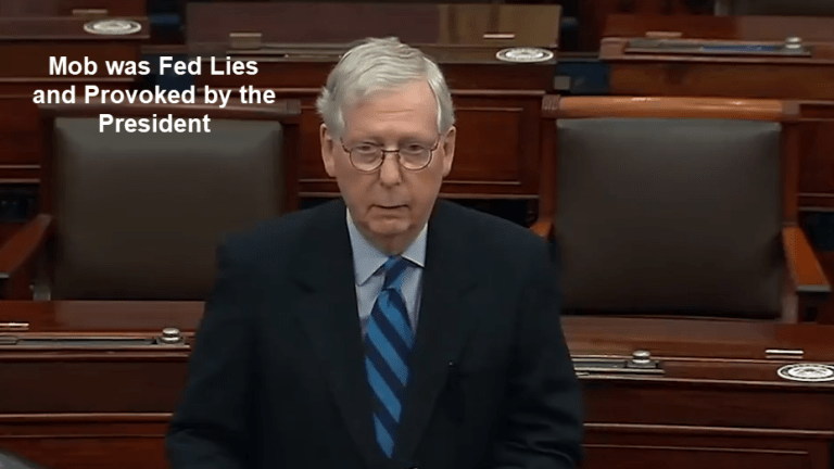 McConnell Accuses Trump of Feeding a Mob Lies