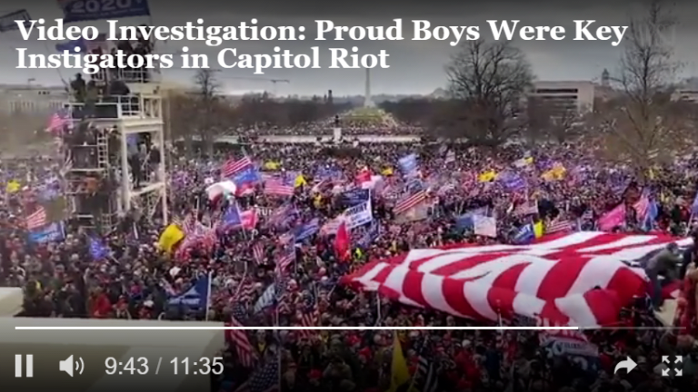 Video Shows the Proud Boys Led the Charge at the Capitol Riots