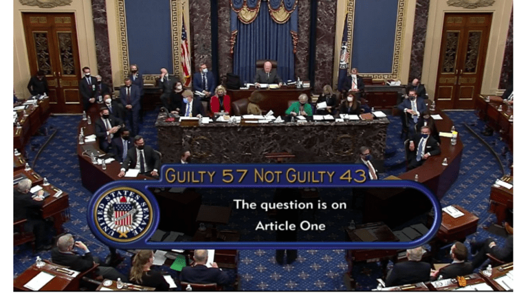 57 Senators Vote to Convict Trump on Inciting an Insurrection Against the United States