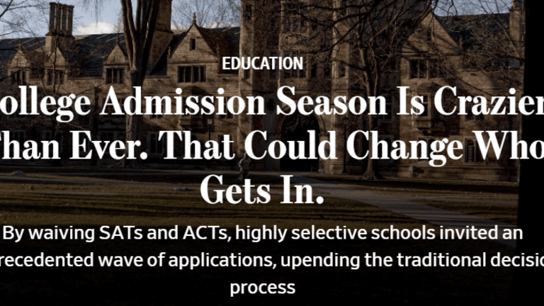 Colleges Dump the SAT, the New Admission Standard is Intellectual Curiosity