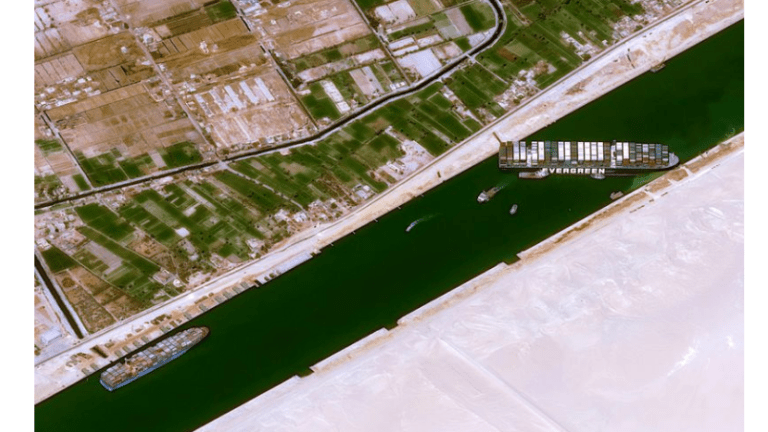 Why a Full Moon Might Help the Free the 300 Ship Blockage in the Suez Canal