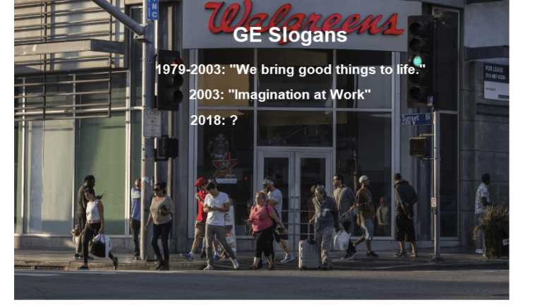 GE Drops Out of DOW After 111 Years: GE Needs New Slogan, Any Suggestions?