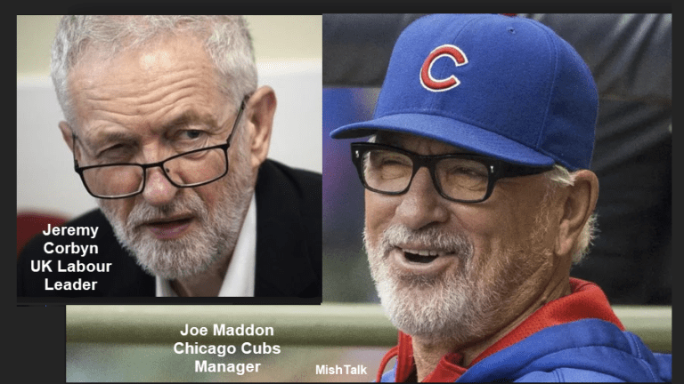 Cubs Manager Joe Maddon and Look-Alike UK Labour Leader Jeremy Corbyn Compared