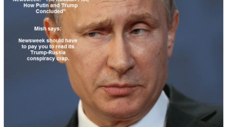 """Newsweek Fake News: """"The Russian Plot, How Putin and Trump Colluded"""""""