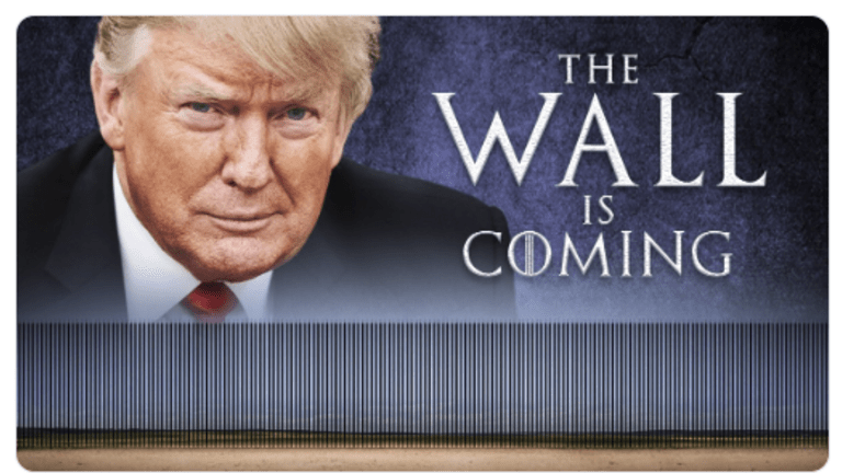 Trump to Address the Nation on the Wall 9:00 PM Tuesday