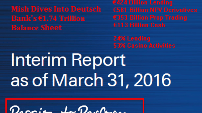 """Diving Into Deutsche Bank's """"Passion to Perform"""" Balance Sheet"""