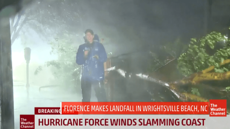Florence Lands as Cat 1 nr Wilmington: 12 In of Rain, Record Tides and Floods
