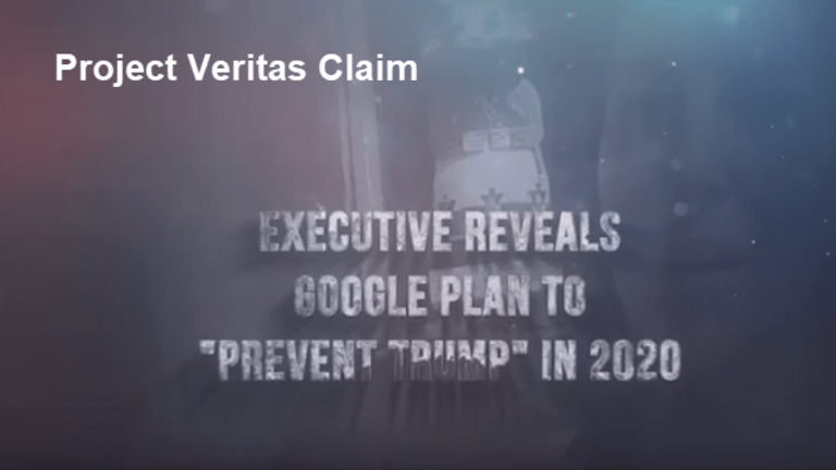 """Project Veritas: Investigating the Claim """"Google Plans to Hack the 2020 Election"""