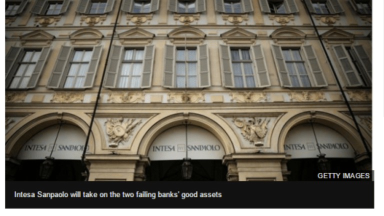 Two Italian Banks Fail: Bail-In Rules Changed to Protect ECB and Political Class from Losses?