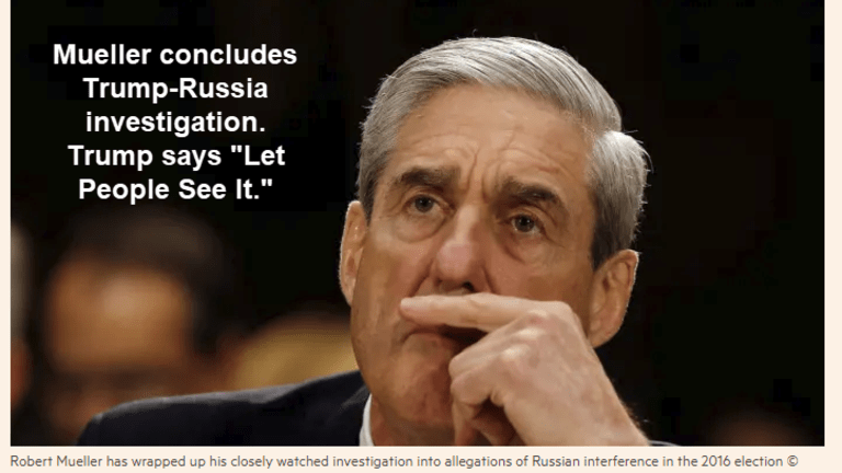 Mueller Delivers Report on Trump-Russia Investigation to Attorney General